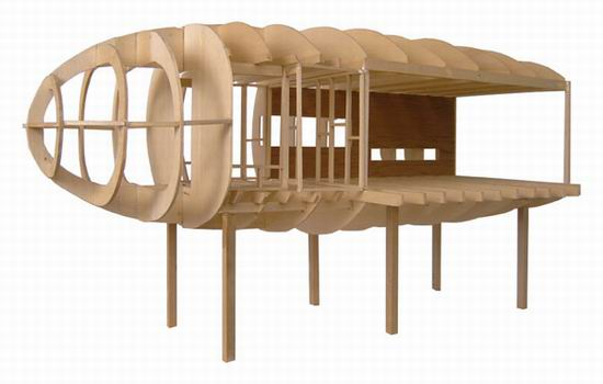 The model layout of the Cocoon House 05