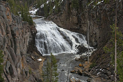 Gibbon Falls (BigSkyKatie) Tags: park fall creek volcano waterfall border falls national caldera edge yellowstone rim cascade gibbon katielasallelowery