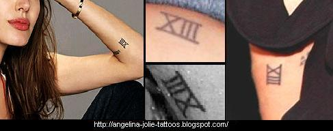 Angelina Jolie tattoo  XIII
