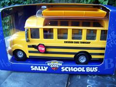 Sally  School Bus (Bob the Real Deal) Tags: auto ca school bus yellow toy toys spring kodak sally collection stop collections turlock swap schoolbus chevron 2009 meet township chevroncars thechevroncars sallyschoolbus