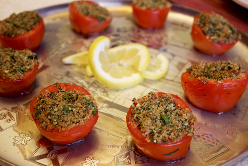 Tomatoes Stuffed with Parmesan and Bread Crumbs
