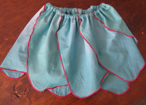 Teal handkerchief skirt