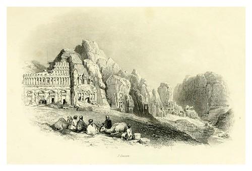 022-Tumbas principales en Petra-Bartlett, W. H. 1856