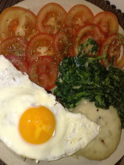 noms for lunch!... (-ko-ko-) Tags: cheese tomato nokia burger egg spinach n95 mertolenga