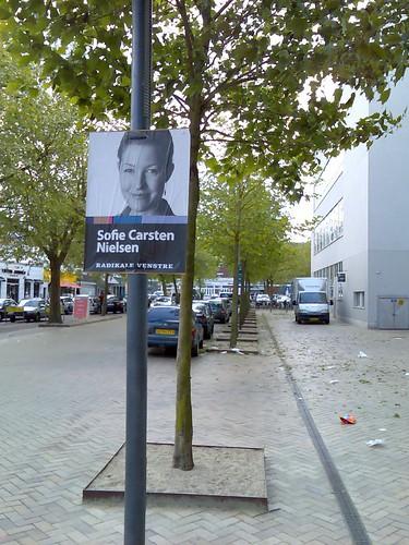 Election poster: Sofie Carsten Nielsen