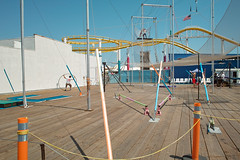 Trapeze School New York at Santa Monica Pier (Wanderungen) Tags: blue usa newyork colors amusement pier losangeles interestingness outdoor santamonica funfair trapeze trapezeschool dp1 sigmadp1
