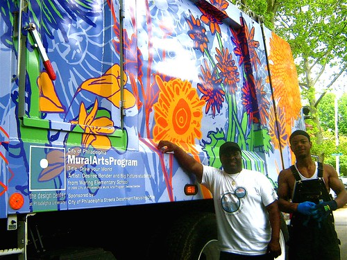 Mural Arted Recycling Truck
