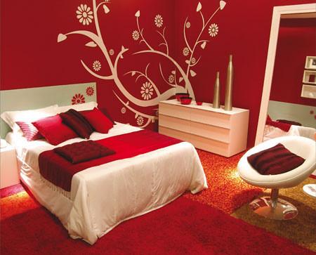 Decoração: quarto dos sonhos vermelho e branco