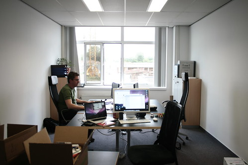 picture of the new office