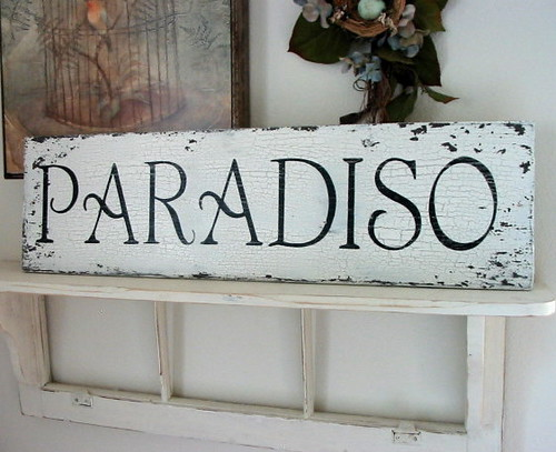 Custom Paradiso Paradise Sign