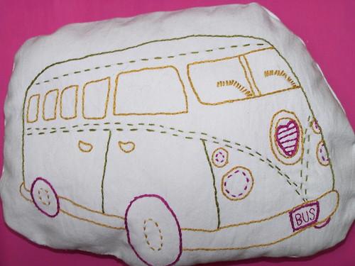 love bus pillow