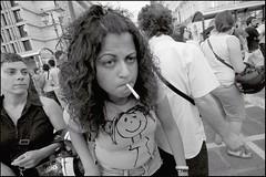 Close Up (Costas Lycavittos) Tags: street people bw nikon athens d300 blackwhitephotos costaslycavittos