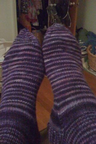 purple rain stormmoonknits socks