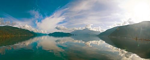 harrison lake panorama