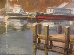 River Marina (Chris V++) Tags: light house art painting landscape boats marine acrylic scenic maryland canvas sensational delaware nautical regional