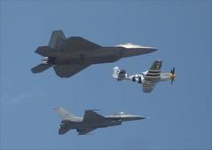 USAF Heritage: F-22 P-51 F-16