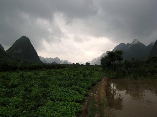 Moody skies along the Yulong River