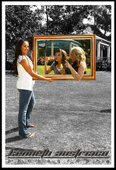 frame within a frame (ksaustriaco photography) Tags: park family trees portrait white shirt canon garden daughter mother picture gazebo jeans frame bubble 2470mm chinohills englishspringspark