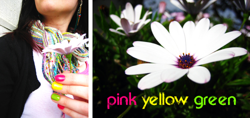 Pink Yellow Green Collage