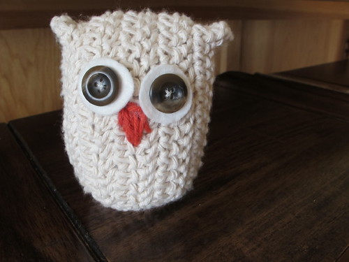 Crocheted owl