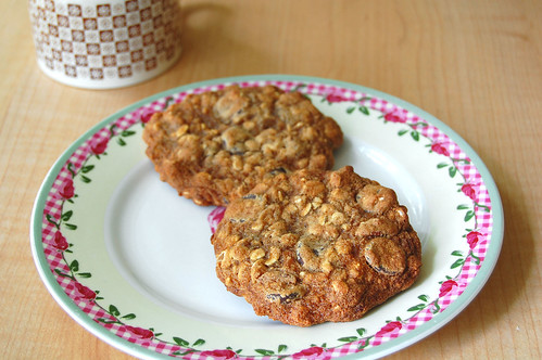 Chocolate Chip Trips: Chocolate Chip and Pecan Oatmeal Cookies