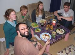 Mexican Dinner Night (WillJL) Tags: friends japan lumix lindsay panasonic josh mexican davin jess chrissy microfourthirds dmcg1