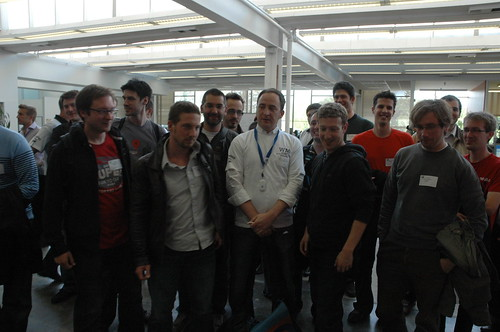 Mark Zuckerberg with Belgian Webmission guys right now in Facebook HQ