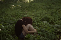(b r e e) Tags: light red nature leaves forest hair quiet bokeh redhead scrawl redhair bree readhead