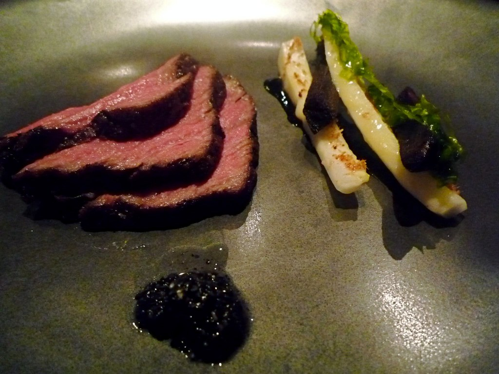 Beef, seagrass, white cabbage