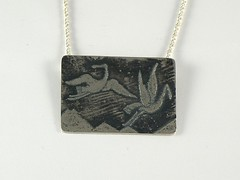 """""""Cranes"""" Silver Necklace (EfratJewelry) Tags: silver handmade jewelry jewellery sterling 925 oxidized silversmith metalsmith sterlingsilver          efratjewelry"""
