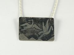"""Cranes"" Silver Necklace (EfratJewelry) Tags: silver handmade jewelry jewellery sterling 925 oxidized silversmith metalsmith sterlingsilver כסף סטרלינג תכשיטים שרשרת תליון תליונים שרשראות צורפות עיצובתכשיטים efratjewelry"