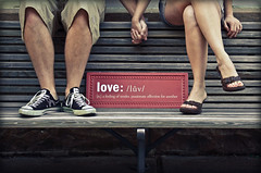 (two)gether (enjoythelittlethings) Tags: friends love feet sign self bench couple toes together converse heels holdinghands 365 monday sandles hob hbm