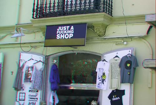 Samo jebeni dućan Eivissa Ibiza Town u 3D stereoskopska slika