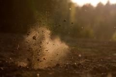 Rjhdys (felixbade) Tags: field earth smoke explosion dust rimlight