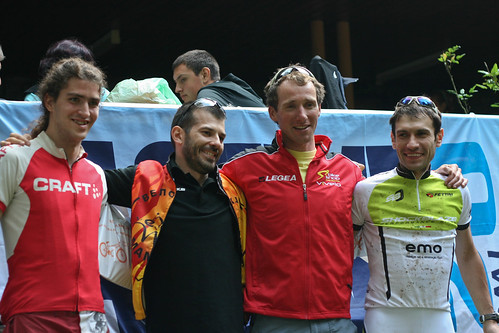 The men's podium