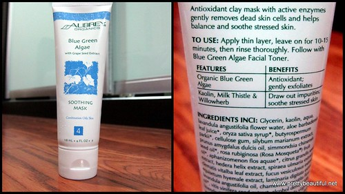 Aubrey Blue Green Algae with Grape Seed Extract Mask