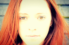 Big Red (Morgansperspective) Tags: red portrait girl closeup hair bright over exposed
