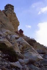 Nomads climbing (reurinkjan) Tags: 2002 nikon tibet everest nomads rongbuk tingri jomolangma drokba janreurink brogpa rongphuchu བོད། བོད་ལྗོངས།