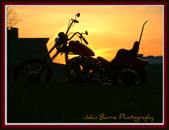 Chopper (John Barrie Photography) Tags: harley copper easyrider masonohio redchopper johnbarrie johnbarriephotography customerchopper chopperatsunset chopperandsky badasschopper velocityphotography