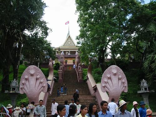Pompeuze Wat in Phnom Penh