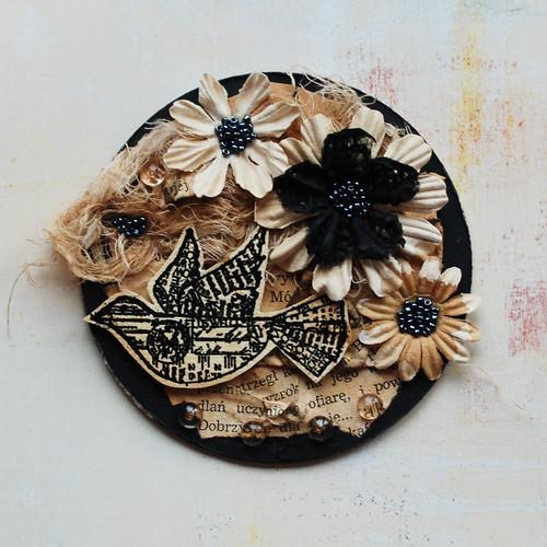 magnes kwiaty