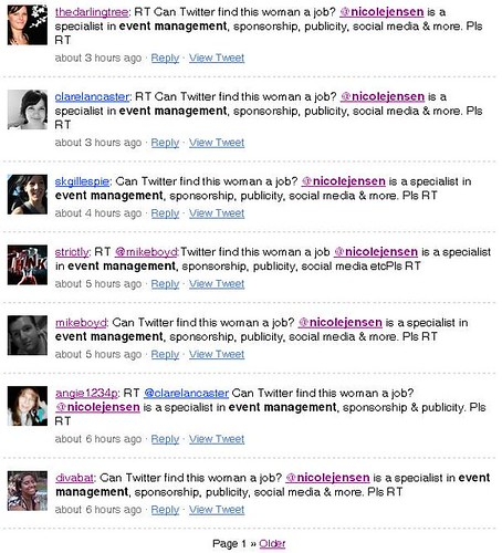 Just a sample of the retweets.