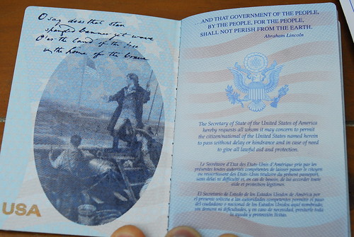 USA Passport, unboxed