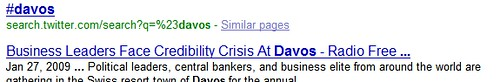 Davos Google Search Results Snippet - 02/12/09