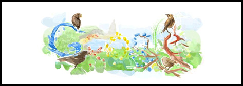 Google Log for Darwin's Birthday (by StarbuckGuy)