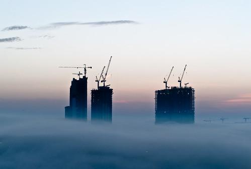 Maglovito jutro u Dubaiju