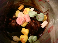 Messing with leftover Valentine's Day Candy