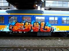 AMF 20090115 09.00 (oerendhard1) Tags: streetart train graffiti painted thenetherlands trains vandalism railways amersfoort traingraffiti railart clownz