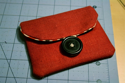Simple little linen pouch