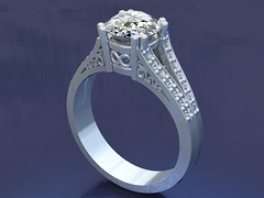 Engagement Ring (Liberty Jewelry) Tags: diamonds silver gold design maryland jewelry engagementring rings earrings custom platinum rendering cad gemstones milling timonium pendants yellowgold manufacturing weddingband whitegold libertyjewelry